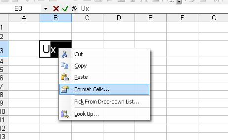 Subscript - Superscript in MS-Office