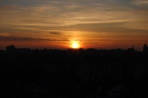 rasarit de soare Timisoara ianuarie
